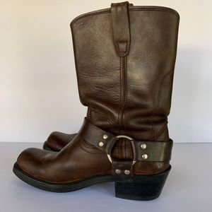 Durango Harness Distressed Leather Boots Size 7
